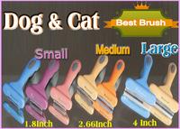 L/M/S Dog  Cat Pet  Grooming brush Hair Remover DeShedding Tool pet comb pet brush(select red only ship orange)