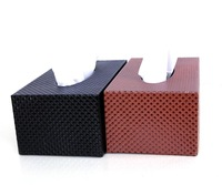 Fashion Leather Car tissue Box Pumping Paper Box Tissue Pumping Pure Manual Craft Density Board Leather Exemption From Postage
