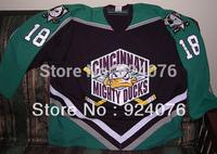 Cincinnati Mighty Ducks #18 Mikael Holmqvist Jerseys personalized - Cheap ICE Hockey Jersey Number & Nane Sewn On (XS-5XL)