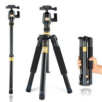 Q555 Professional Aluminum Magnesium Alloy Portable Foldable Tripod Kit For SLR Camera / Can Be Changed To Monopod / Wholesale