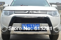 Mitsubishi Outlander 2013+ Front Rear Bumper Protector Body Kits Guard Plate , ABS, Free Shipping