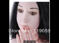 Wholesale -  Real doll silicone inflatable doll girl /sex product/Solid sex love doll Masturbator Vagina anus Sex Toys For Men