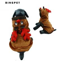 envo gratis fleece reno diseo de mascotas perro de perrito del traje ropa de navidad pequea mediana y grande
