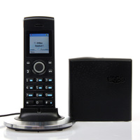 black  Hot skype phone Wifi voip phone Wireless skype phone up to 4 handsets (2 Skype accounts), handle up to 3 parallel calls