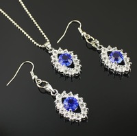 Min.order is $10 (mix order)Free Shipping  Austrian crystal Pendant Earrings + necklace Jewelry sets HN002
