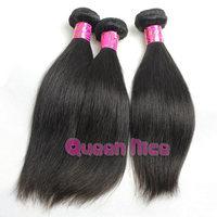 QNice Hair 3pcs/lot malay hair straight malasian hair weaves 3.5oz/bundle