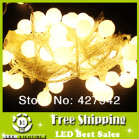 LED String ball lamp Light 80 led 10M strings 220V multicolour 2cm size mini globe Decoration Light for Xmas Party can be serial
