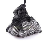 Free Shipping Nylon Mesh Nets Bag Pouch Table Tennis Golf Ball Holder 48 Balls Black Portable Storage Drawing String Closure