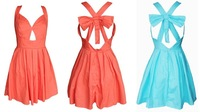 Free Shipping Fashion  bow back cute dress party dress   230