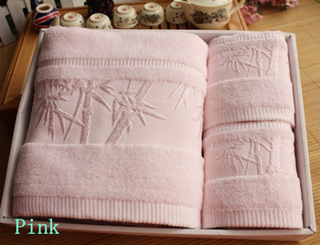 Towel gift bath towel set 100% bamboo fiber bath towel piece set
