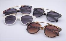 High quality women brand designer sunglasses round mirrored shades cat eye glasses os009