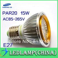 High Quality LED Light PAR 20 LED 15W 5*3W E27/GU10/E14/B22 Spotlight Cool White Warm White PAR20 living room lights,discount