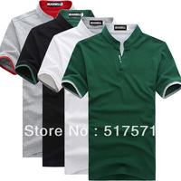 Free shipping 2013 new fashion cotton Mens Shirt ,Good Quality Men's Short Sleeve Tshirt ,brand,Wholesale,drop shipping