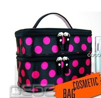 Free shipping# WOMENs Dot Large Cosmetic Bag Set Large MAKEUP Bag/case Toiletry Bag 5 Colour