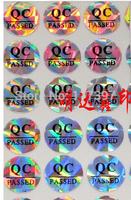 wholesales QC lable sticker custom label sticker adhensive QC PASSED Laser stickers ,500pcs/lot
