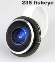 Factory price Newest Super 235 degree Detachable Universal Clip fisheye Fish Eye Lens For Samsung Htc iphone,10pcs/lot