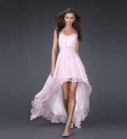 Front Short Long Back  Prom Ball Evening Dress Pink,white,Blue