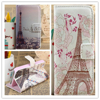 Fashion Retro Paris Eiffel Tower High quality leather case for iPhone 4g 4s cover card holder wallet fashion phone bags