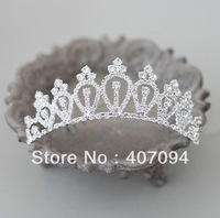 FreeShipping,Wholesale 6 pcs /lots Wedding Tiara Headpieces The Flower Girls Crown Hair Combs Jewelry