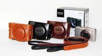 Black Light Brown Dark brown/ Coffee Colour Leather case bag for Sony DSC-HX50V/B HX50V HX50 camera + Free shipping