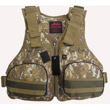 Free shipping New brand comouflage Fishing vest life jackets dual-use multi-function fishing life vest Kayak life jacket(China (Mainland))