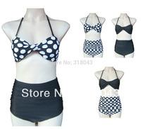 Retro Vintage High Waist Bathing Suits Bikini Set High waisted 2pcs Bikini Swimsuit Swimwear