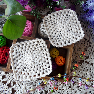 Free shipping IKEA crochet hook 10 pic/lot  11cm white cotton lace felt fabric doily as kitchen accessories dinning table mat