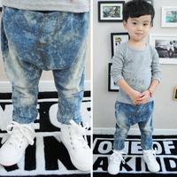 2014 Spring  Autumn Baby Child Brief All-Match Denim Harem Jeans Male Child Harem Pants Boys Kids Harem Trousers Supernova Sale