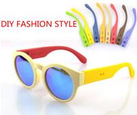 New Stylenanda Fashion DIY Korea Hot saling Cycling Grafik Round Frame Plastic Sunglasses for Outdoor Sports,Gafas de sol