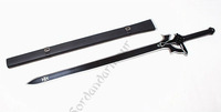 Sword Art Online kirigaya kazuto Kirito Black Sword hand forged steel weapon 107cm Cosplay Prop US AU Free shipping