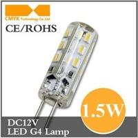 Free shippping 1.5W G4 led bulb AC/DC12V Cold white/warm white 24pcs 3014SMD L35*W10mm CE&ROHS 2pcs/lot 1.5W 12v led bulb