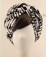 Fashion Design Vintage Bohemia Headbands Turban Stree Star green pattern hairbands Bandanas Free Shipping