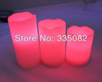 New Colored Wax Candles scented Flameless Candle Led Long Life for Wedding gifts birthday Party Christmas festive decoration