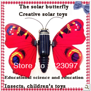 Solar butterfly & Flying butterfly & Solar toys & Children's toys & Educational toys & Science and education & Insects(China (Mainland))