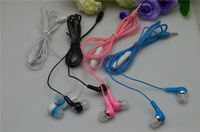 New arrival 3.5mm Crystal Cable Stereo Earbuds In-ear Earphone  with MIC for iphone HTC SAMSUNG XIAOMI , Free shipping