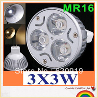 1pcs 2013 New LED Mr16 3X3W 9W Dimmable spotlight  CREE Replacement 50W Warm white or cool white
