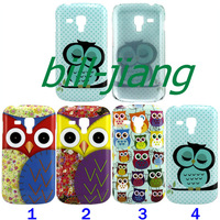 Cartoon Cute Owl Bird design Hard Back Cover Case for Samsung Galaxy S Duos S7562  1pcs/lot BY CHINA POST