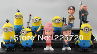 Hot Sell Toys Despicable Me PVC Action Figure 10pcs/set Best Gifts and Collections