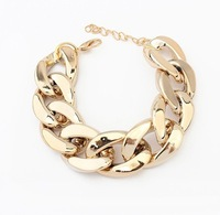 3#Min.order is $10{ mix order }.Europe and the United States major suit coarse chain simple all-match bracelet.Free Shipping