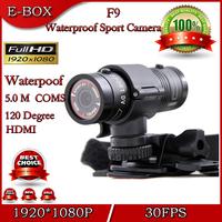 Free Shipping Mini Sport Outdoor Camera Recorder Full HD 1920*1080P 30FPS Waterproof Bike Motorcycle Helmet Action camera