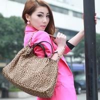 OPPO brand new fashion leopard female bag, lady handbag, brand messenger bag, Europe and the United States women messenger bag.