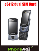 Free GIFT Refurbished Samsung C6112 Dual SIM Card 2G 2MP Camera Mobile Phone with Russian Keyboard
