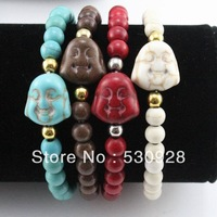 Min. order $10 new arrival 2013 new fashion cheap tuiquoise buddha bead bracelet Whole sale Free shipping