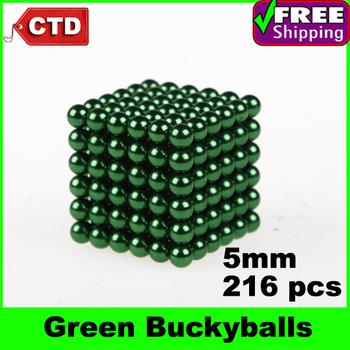 Green 216pcs Diameter 5mm Neocube Magic Cube Magnetic Balls Buckyballs