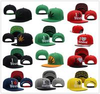 1 PC Hot New Arrival Adjustable I LOVE haters Weed Marijuanna Snapback Caps Men Funny Hip Hop Baseball Cap Snapback hats