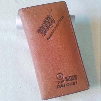Leahter and PU  wallet for men /  MIid Range long slim bifold men wallet /  morden standard wallet