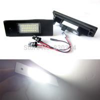 Free Shipping No Error 18SMD  LED License Number Plate Light for BMW E63 E64 E81 E85 E87 650i M6 Z4