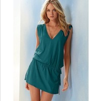 2013 new fashion solid Bikini dress, holiday Beach dress casual dress free shipping swimwear