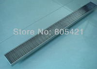 Free shipping 304ss linear grate shower drain outle at the end