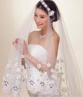 Rhinestone lace wedding veil cathedral bridal veil long headdress wedding decoration wedding dress accessories mantillas